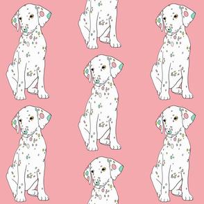 Colourful Dalmatian puppy print