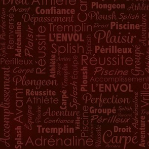 Dinving word cloud red