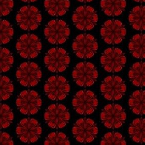 Kaleidoscope red flower