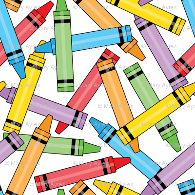 spilled crayons