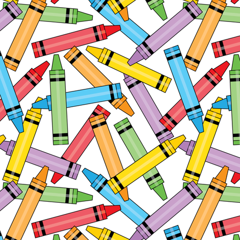spilled crayons fabric by lilcubby on Spoonflower - custom fabric