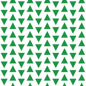 triangles fabric // kelly green triangle fabric simple coordinate design
