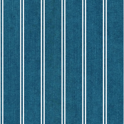 jeans / aqua with stripes fabric by alenushka on Spoonflower - custom fabric