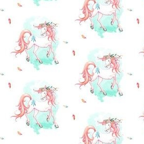 "2.5"" Pink Boho Horse"
