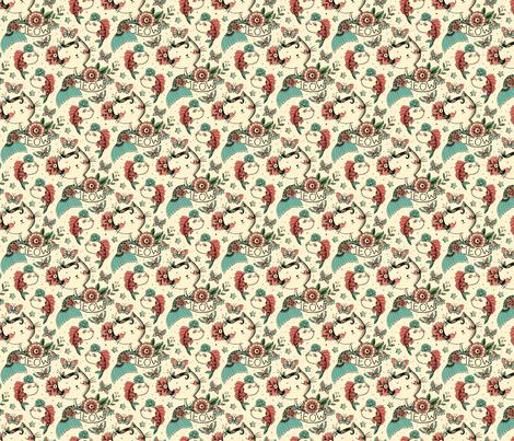 Born to Meow small scale fabric by monika_suska on Spoonflower - custom fabric