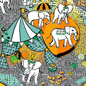 Acte de cirque d'éléphant - 2