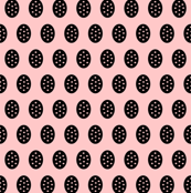 Whitney Black Modern Dots