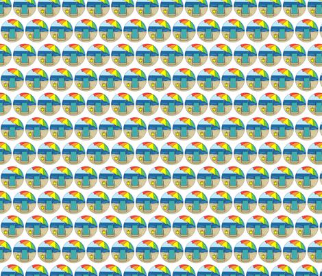 Beach Chair, Rainbow Umbrella fabric by eileenmckenna on Spoonflower - custom fabric