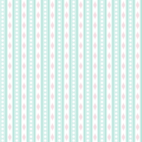 spots & stripes Aqua fabric by woodmouse&bobbit on Spoonflower - custom fabric