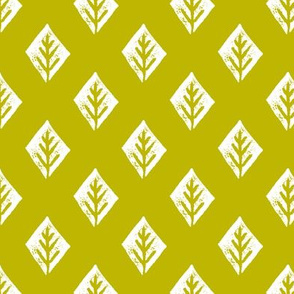 diamond fabric // coordinate simple linocut illustration design by andrea lauren - chartreuse