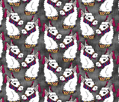 Circus Llamas fabric by pond_ripple on Spoonflower - custom fabric