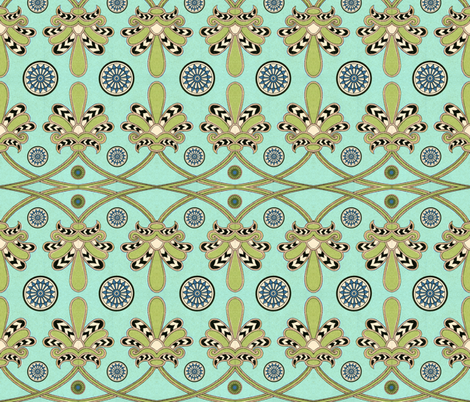egyptian 29 fabric by hypersphere on Spoonflower - custom fabric