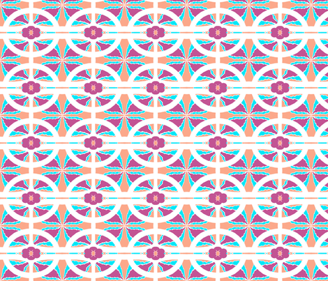 Fooling aROUND  / Peach-purple-blue-white  fabric by franbail on Spoonflower - custom fabric