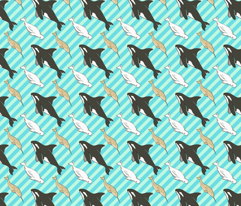 Arctic Whales fabric by heretherebemonsters on Spoonflower - custom fabric