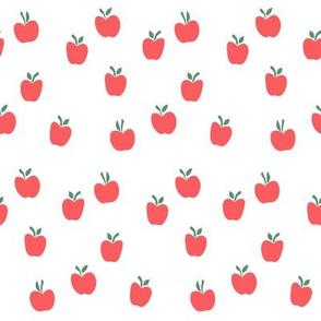 apple picking - red on white