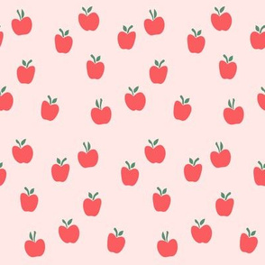 apple picking - red on pink