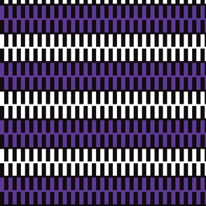 Purple and White Zipper on Black Upholstery Fabric