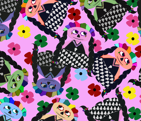 Mexican_dolls fabric by alicitapatterns on Spoonflower - custom fabric