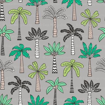 Palm Trees on Grey