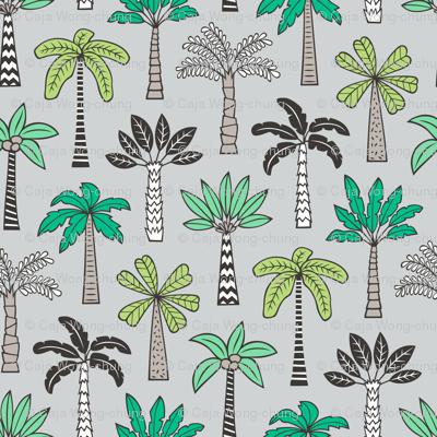 Palm Trees on Light Grey
