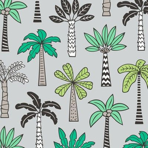 Palm Trees on Light Grey