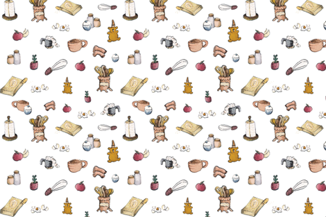 Grandma's Apple Pie fabric by angieguarin on Spoonflower - custom fabric