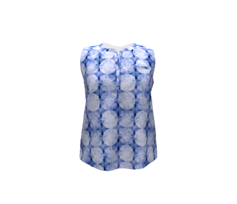Textured Circles Indigo Soft 300