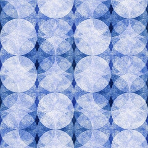 Textured Circles Indigo Soft 300