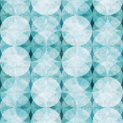 Textured Circles Teal Soft 300