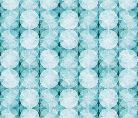 Textured Circles Teal Soft 300 fabric by kadyson on Spoonflower - custom fabric