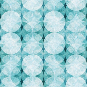 Textured Circles Teal Soft 300