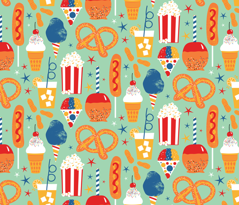 Circus Snacks fabric by designs_by_lisa_k on Spoonflower - custom fabric