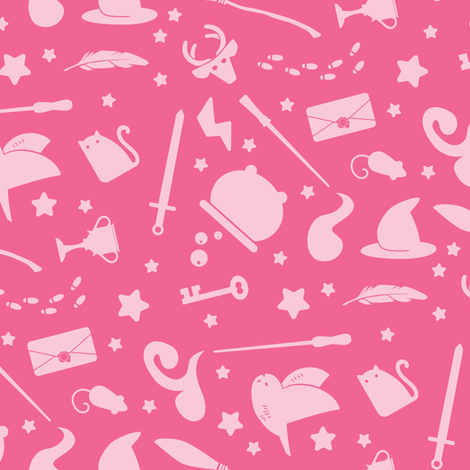 Pastel Wizardry - Pink (Large Scale) fabric by robinskarbek on Spoonflower - custom fabric