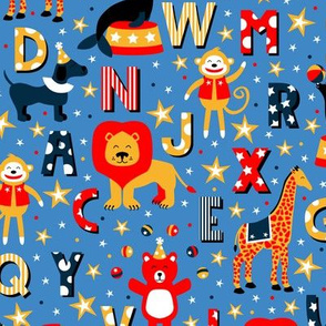 Animal Alphabet Parade (Blue)