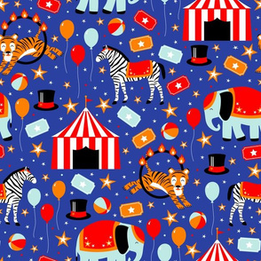 Under the Big Top (Blue)