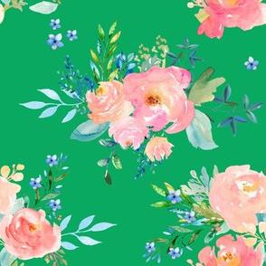 "8"" Floral Sweet Pastel / Green"