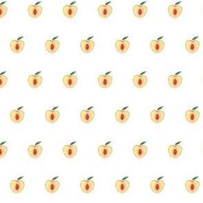 Tiny Peaches (white background)