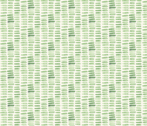 Sage Dash Strokes - Horizontal  fabric by katebutler on Spoonflower - custom fabric