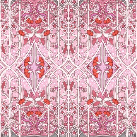 Edwardian Spring fabric by edsel2084 on Spoonflower - custom fabric