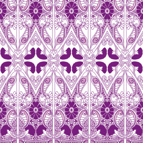 The Old Time Purple Paisley Days fabric by edsel2084 on Spoonflower - custom fabric