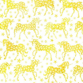 Yellow  Geo Unicorns