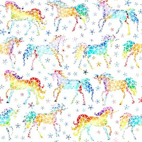 Rainbow Geo Unicorns