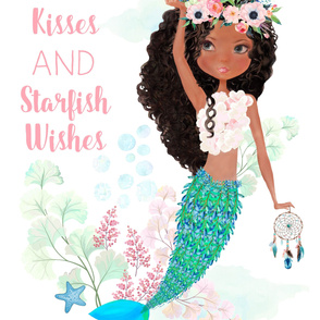 "42""x72"" Chloe The Mermaid / Mermaid Kisses Quote"