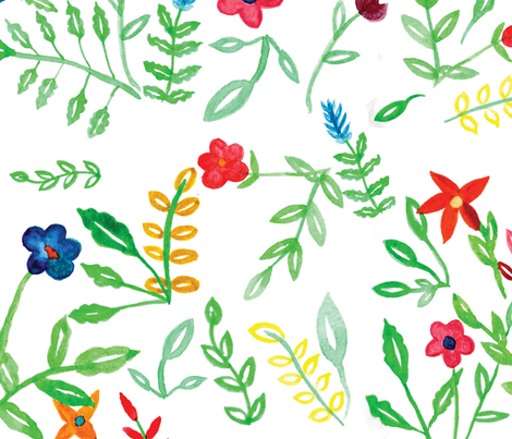 Fun Florals fabric by casey_belle_ on Spoonflower - custom fabric