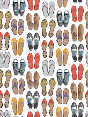 Hard choice // shoes on white background