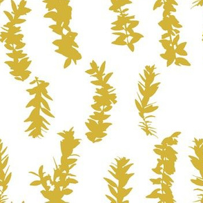 lei strands - mustard