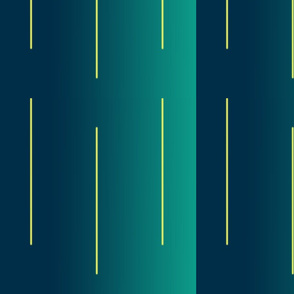 peacock green and blue gradient with yellow accents