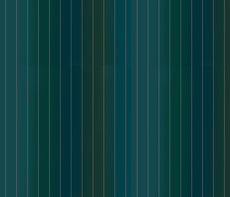 Peacock Green and Blue hues with Grey Pinstripe fabric by lntift on Spoonflower - custom fabric