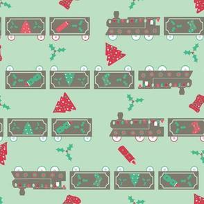 #SAGE Christmas Train Green