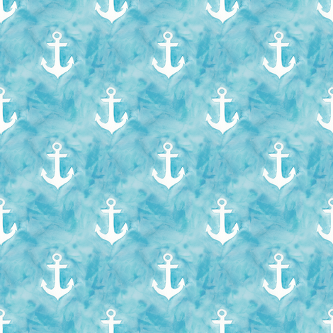Watercolor Anchors I fabric by sarah_coombs on Spoonflower - custom fabric